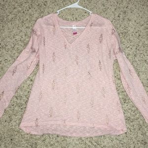 Pink and gold sweater